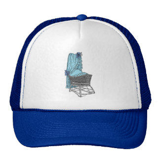 Blue Baby Bassinet Trucker Hat