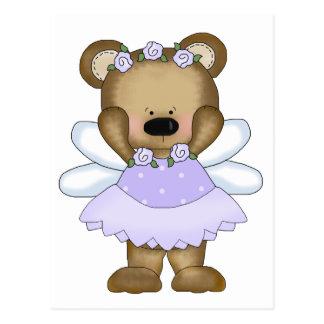 Blue Baby Bear Fairy Postcard