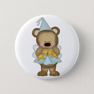 Blue Baby Bear Princess Pinback Button