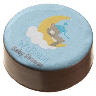 Blue Baby Bear Sleeping On The Moon - baby shower Chocolate Covered Oreo