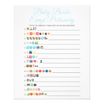 Blue Baby Books Emoji Pictionary Game Flyer