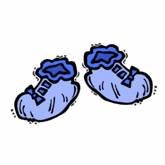 Blue baby booties photo cutout