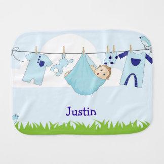 Blue Baby Boy Burp Cloth