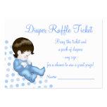 Blue Baby Boy Diaper Raffle Tickets Business Card