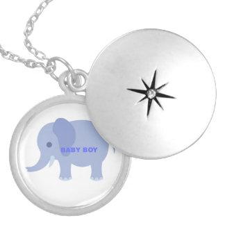 Blue Baby Boy Elephant Pendant