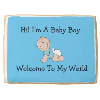 BLue Baby Boy Jumbo Short Bread Cookie