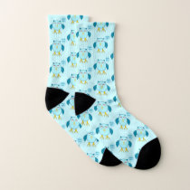 Blue Baby Boy Owl Patterned Socks