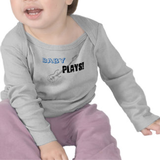 Blue Baby Boy Plays Guitar Cool Funny Creeper Gift