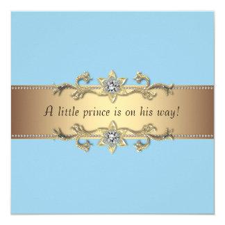 Blue Baby Boy Prince Shower Card