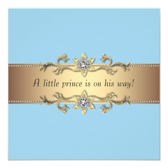 Blue Baby Boy Prince Shower Card