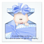Blue Baby Boy Shower Invitation or Announcement