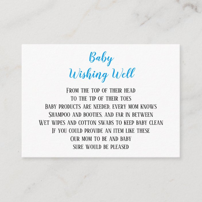 Baby Boy Wishing Well Shower Mini