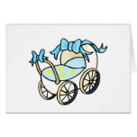 blue baby buggy cards