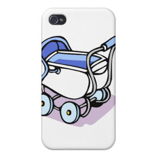 blue baby buggy iPhone 4/4S cover