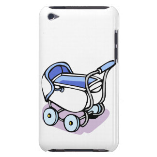 blue baby buggy iPod Case-Mate case