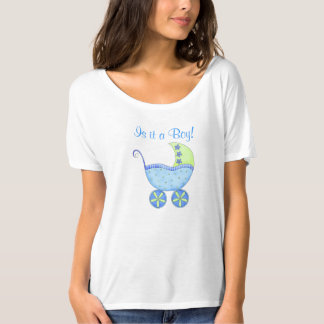 Blue Baby Buggy It's A Boy Mom's T-Shirt