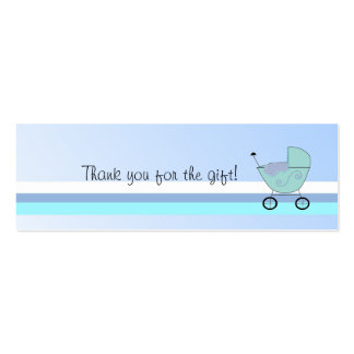 Blue Baby Buggy Mini Business Card