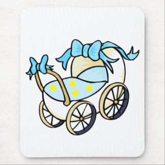 blue baby buggy mouse pad