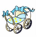 blue baby buggy photo cutouts