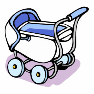 blue baby buggy photo cut outs