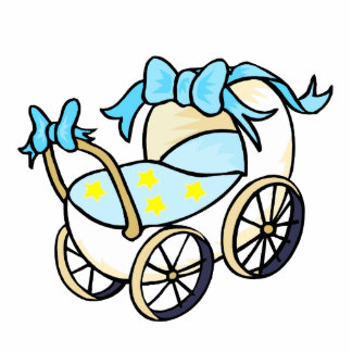 blue baby buggy photo cut out