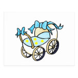 blue baby buggy post card