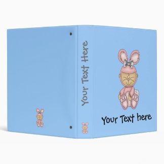 Blue baby bunny binder