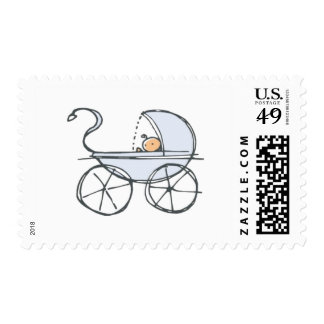 Blue Baby Carriage Postage