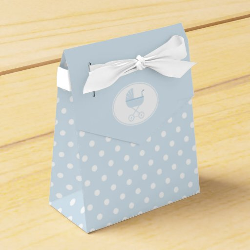 Blue Baby Shower Favor Boxes : Blue baby carriage shower favor box zazzle