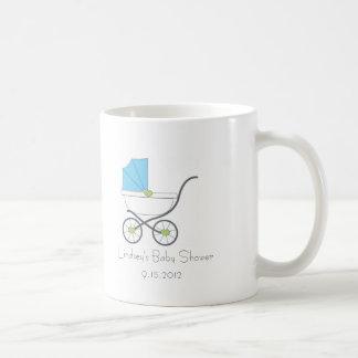 Blue Baby Carriage Shower Favor Mug