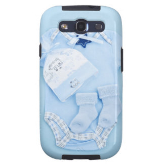 Blue baby clothes for infant boy samsung galaxy s3 cover