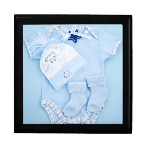Blue baby clothes for infant boy jewelry boxes
