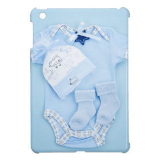 Blue baby clothes for infant boy iPad mini cases