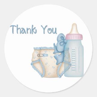 Blue Baby Diaper & Bottle Stickers