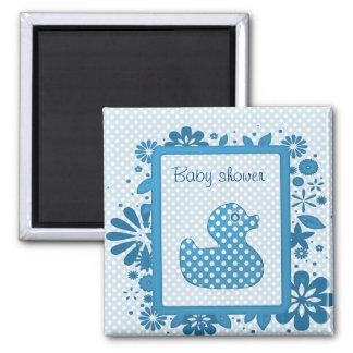 blue baby ducky 2 inch square magnet