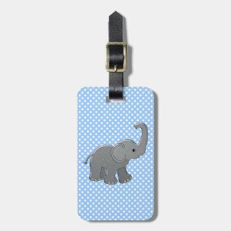 blue baby elephant bag tags