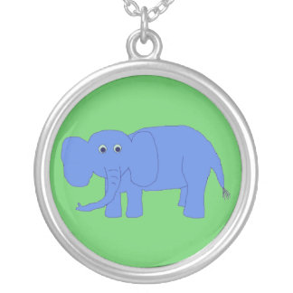 Blue Baby Elephant necklace