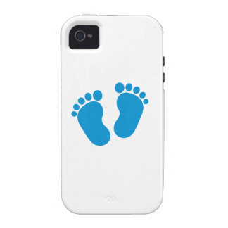 Blue baby feet vibe iPhone 4 cases
