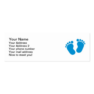 Blue baby feet Double-Sided mini business cards (Pack of 20)