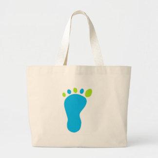 Blue Baby Foot Tote Bags