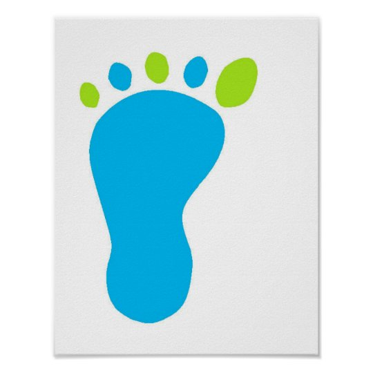 Blue Baby Foot Poster