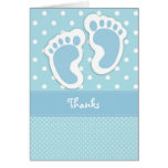 Blue Baby Foot Print Thank You Card