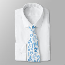 Blue Baby Foot Prints Neck Tie