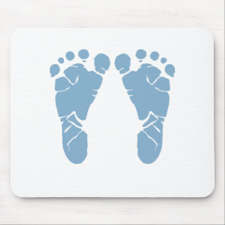 Blue baby footprints mouse pad