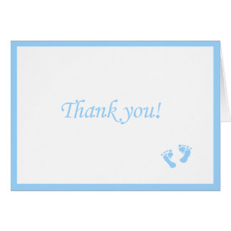 Blue Baby Footprints-Thank You Card