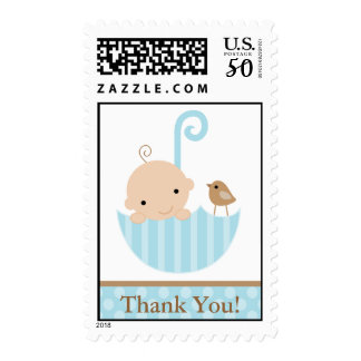 Blue Baby in Umbrella Postage