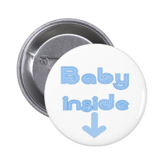 Blue Baby Inside - Customized Pinback Button