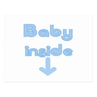 Blue Baby Inside Postcard