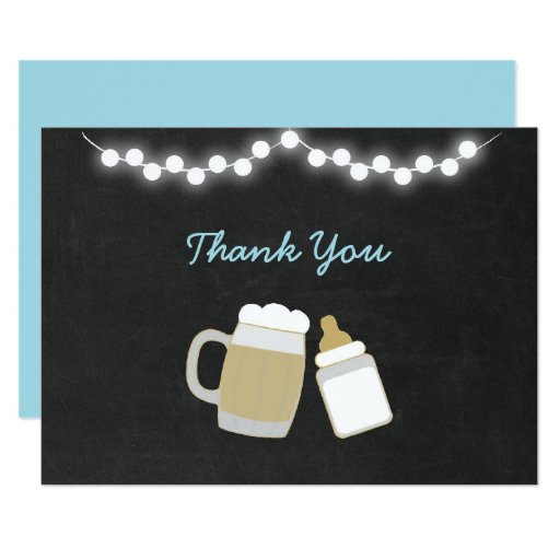 Blue Baby Is Brewing Baby Shower Thank You Card