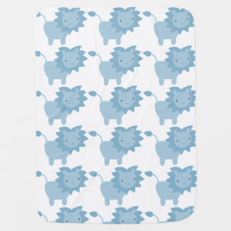 Blue Baby Lion Baby Blanket Baby Blanket